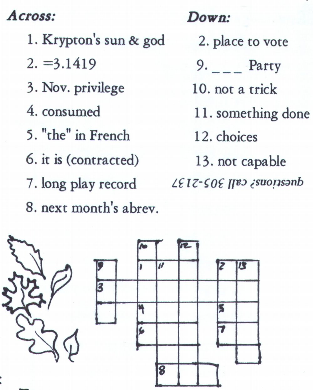 CrossWord Puzzle  sc 1 st  KyLinks.net Links to Kentucky websites & Crofton Chronicle 25forcollege.com